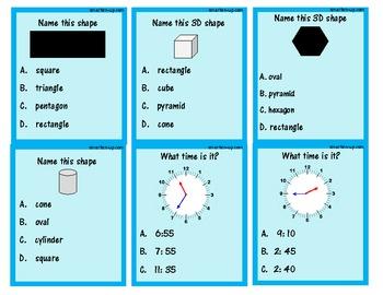 2nd Grade Math Review Game