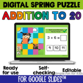 2nd Grade Math Review Game Addition to 20 Digital Spring P