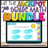2nd Grade Math Review Game Show Bundle Google Slides   Distance Learning