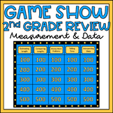 2nd Grade Math Review Game Show EDITABLE Measurement & Data