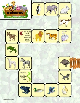 2nd Grade Math Review Game - Zoo Theme