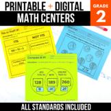 2nd Grade Digital Math Centers Bundle | Google Classroom™