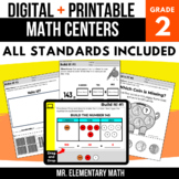 2nd Grade Digital Math Centers Bundle | Google Classroom™