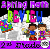 2nd Grade Math Review Packet with Spring Theme