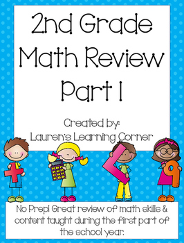 2nd Grade Math Review - Part 1 - Common Core Aligned