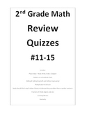 2nd Grade Math Review Quizzes 11-15