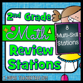 2nd Grade Math Review Stations