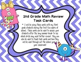 2nd Grade Math Review Task Cards