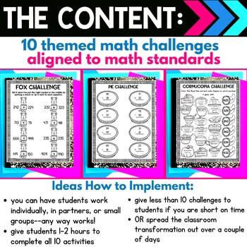 2nd Grade Math Review | Thanksgiving Classroom Transformation