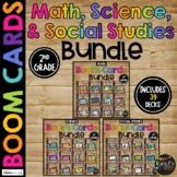 2nd Grade Math, Science, Social Studies Boom Cards™ BUNDLE