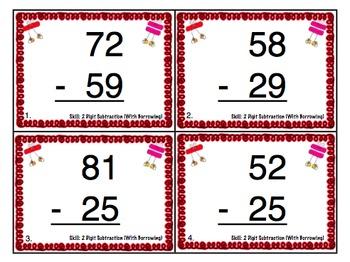 2nd Grade Math Skills Scoot Mega Bundle