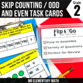 Skip Counting and Odd Even Numbers Task Cards 2nd Grade Ma
