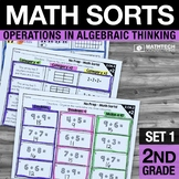 2nd Grade Math Sorts - Set 1 Addition, Subtraction, Odd an