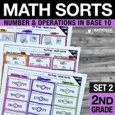 2nd Grade Math Sorts - Set 2 Place Value, Fluently Add and
