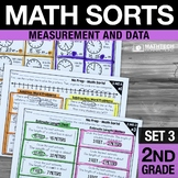 2nd Grade Math Sorts - Set 3 Measurement and Data