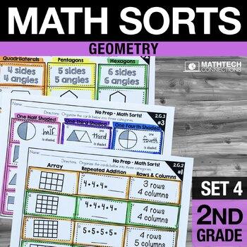 2nd Grade Math Sorts - Set 4: Geometry