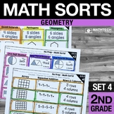 2nd Grade Math Sorts - Set 4: Geometry