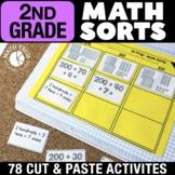 2nd Grade Math Centers | Math Sorts | 2nd Grade Math Games Bundle