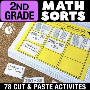 2nd Grade Math Sorts | 2nd Grade Math Games | Math Interactive Notebook