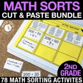 2nd Grade Math Centers | Math Sorts | 2nd Grade Math Games Bundle