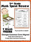2nd Grade Math Spiral Review ~ 1 Week FREEBIE