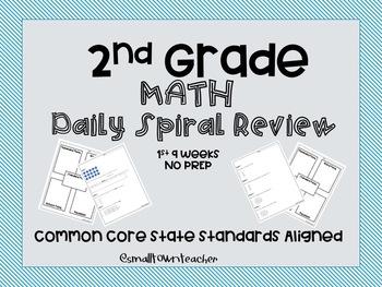 2nd Grade Math Spiral Review