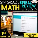 2nd Grade Math Spiral Review   Google Classroom Distance L