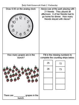 Math Homework Packets