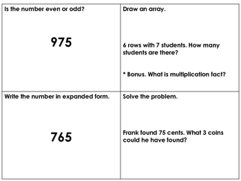 2nd Grade Math Spiral Review Jan - Feb
