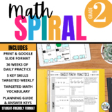 2nd Grade Math Spiral Review - Morning Work aligned with Core Standards & TEKS