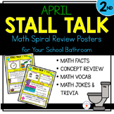 2nd Grade Math Spiral Review Posters- April Stall Talk