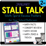 2nd Grade Math Spiral Review Posters- January Stall Talk