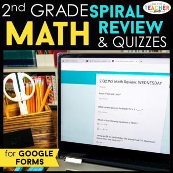 2nd Grade Math Spiral Review DIGITAL   Google Classroom   Distance Learning