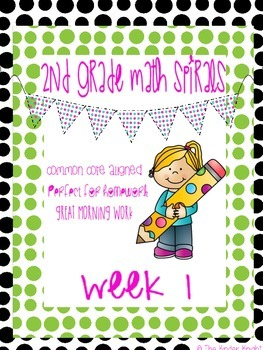 2nd Grade Math Spirals Common Core Aligned Week 1