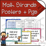 Math Standard Strands Posters + Progress Monitoring Sheets