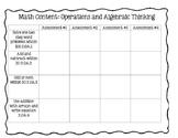 2nd Grade Math Standards Assessment Planning