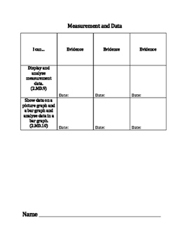 2nd Grade Math Standards Data Tracking Sheets
