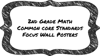 2nd Grade Math Standards on Black Colored Frame