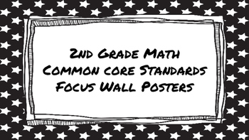 2nd Grade Math Standards on Black Star Frame
