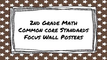 2nd Grade Math Standards on Brown Star Frame