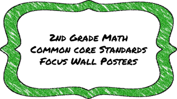 2nd Grade Math Standards on Green Colored Frame