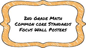 2nd Grade Math Standards on Orange Colored Frame