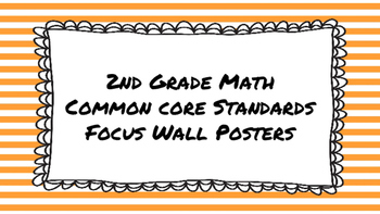 2nd Grade Math Standards on Orange Striped Frame