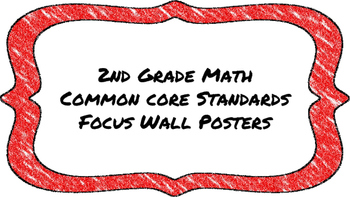 2nd Grade Math Standards on Red Colored Frame