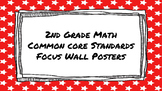 2nd Grade Math Standards on Red Star Frame