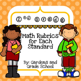 2nd Grade Math Rubrics with Standards