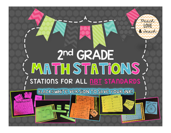 2nd Grade Math Stations - All NBT Standards Common Core