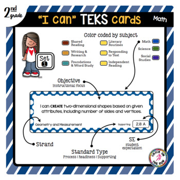 2nd Grade Math TEKS Cards
