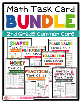 2nd Grade Math Task Card BUNDLE!