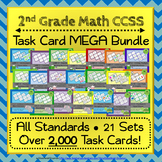 2nd Grade Math Task Cards MEGA Bundle {Common-Core Aligned}